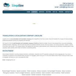 About Translation & localization company London