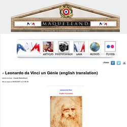 Leonardo da Vinci un Génie (english translation)