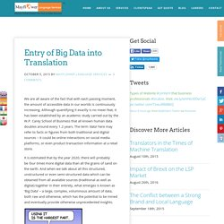 Entry of Big Data into Translation - Mayflower Language Services