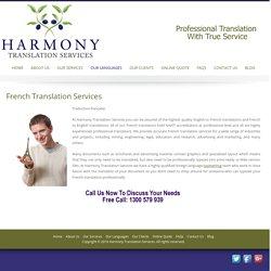 French Translation, Melbourne Australia