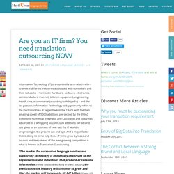 Are you an IT firm? You need translation outsourcing NOW - Mayflower Language Services