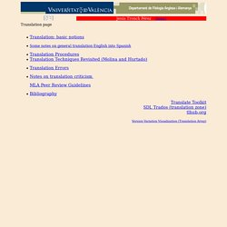 Translation page