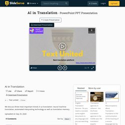AI in Translation PowerPoint Presentation, free download - ID:10114190