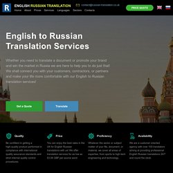 English to Russian Translation Services in the UK, London, from £0.06 GBP