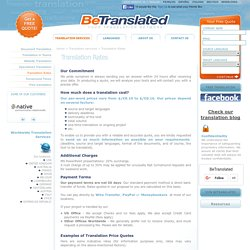 Translation Rates & Prices - How much does a translation cost?