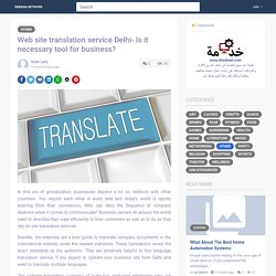 Web site translation service Delhi- Is it necessary tool for...