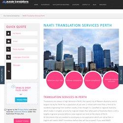 NAATI Translation Service Provider in Perth