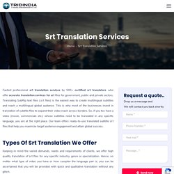 Can i Get SRT file Translated in any Other Language?