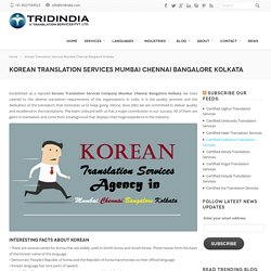 How Korean Translation Services In Bangalore Is Increasing Globally ?