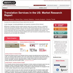 Translation Services in the US Market Research