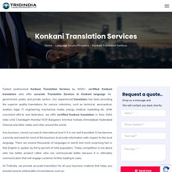 Low Cost Konkani Translation Services In India
