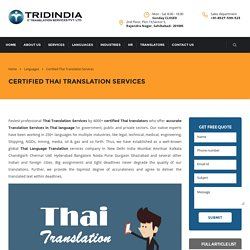 How Do Thai Translation in Germany Lure Business Investors?