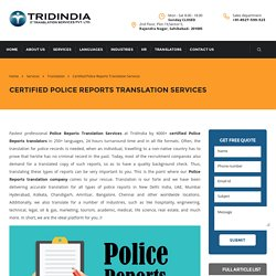 Precise Police Reports Translation for all Documents in France
