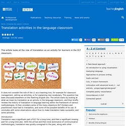 Translation activities in the language classroom