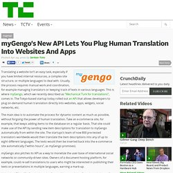 myGengo's New API Lets You Plug Human Translation Into Websites And Apps