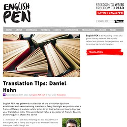Translation Tips – Daniel Hahn