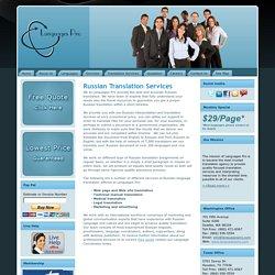 Russian Translation Services USA - Certified English/Russian Translations - Languages Pro