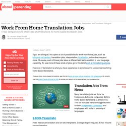 Work-at-Home Translation Jobs - Find Companies Hiring Translators