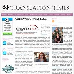 Language Blog Translation Times: UNIVERSITAS Turns 60: Time to Celebrate!
