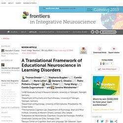 A Translational Framework of Educational Neuroscience in Learning Disorders