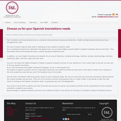 Spanish to English Translation Services – F&LTranslations