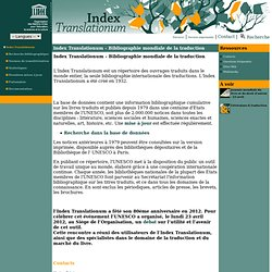 Unesco - Index Translationum - Bibliographie mondiale de la traduction