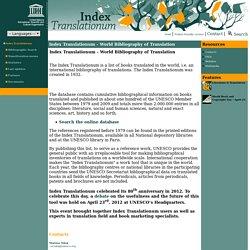 Index Translationum - World Bibliography of Translation