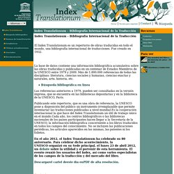Index Translationum - Bibliografía Internacional de la Traducción