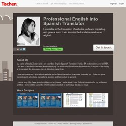 nataliaz - Translator in Mendoza, Argentina. available now on Tischen.