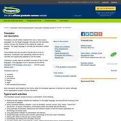 Translator: Job description