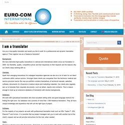 Soy traductor - Euro-Com International BV