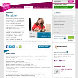 Translator Job Information