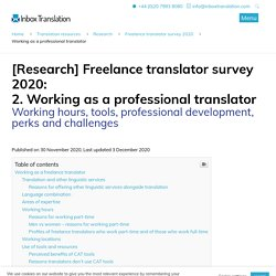 [Research] Freelance translator survey 2020: Working as a professional translator