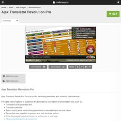 Ajax Translator Revolution Pro - PHP Scripts