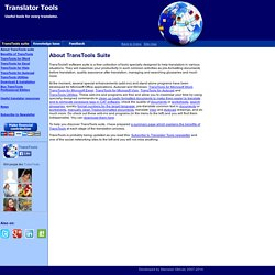 Translator Tools / About TransTools suite