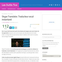 Skype Translator. Traducteur vocal instantané