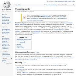 Transliminality - Wikipedia