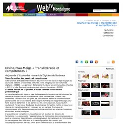 Divina Frau-Meigs « Translittératie et compétences » :...