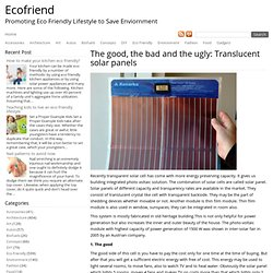 The good, the bad and the ugly: Translucent solar panels