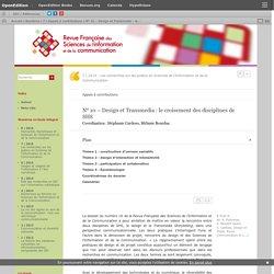 N°10 – Design et Transmedia: le croisement des disciplines de SHS