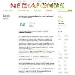 Non-fictie transmedia regeling — Mediafonds