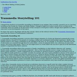 Transmedia Storytelling 101