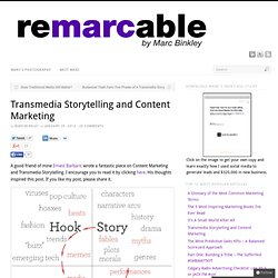 Transmedia Storytelling and Content Marketing | Marc Binkley Marketing