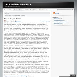 Multimedia Essays « Transmedial Shakespeare