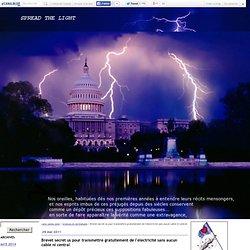 Brevet secret us pour transmettre gratuitement de l'electricité sans aucun cable ni central