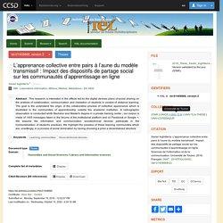 L'apprenance collective entre pairs à l'aune du modèle transmissif : Impact des dispositifs de partage social sur les communautés d'apprentissage en ligne - TEL - Thèses en ligne