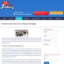 Transmission Service & Repair, Raleigh, NC