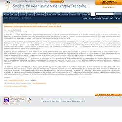 SOCIETE DE REANIMATION DE LANGUE FRANCAISE 05/09/14 Transmission autochtone de bilharziose en Corse du Sud