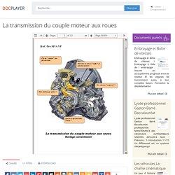 La transmission du couple moteur aux roues - PDF