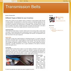 Transmission Belts: Different Types of Belts for your Inventory